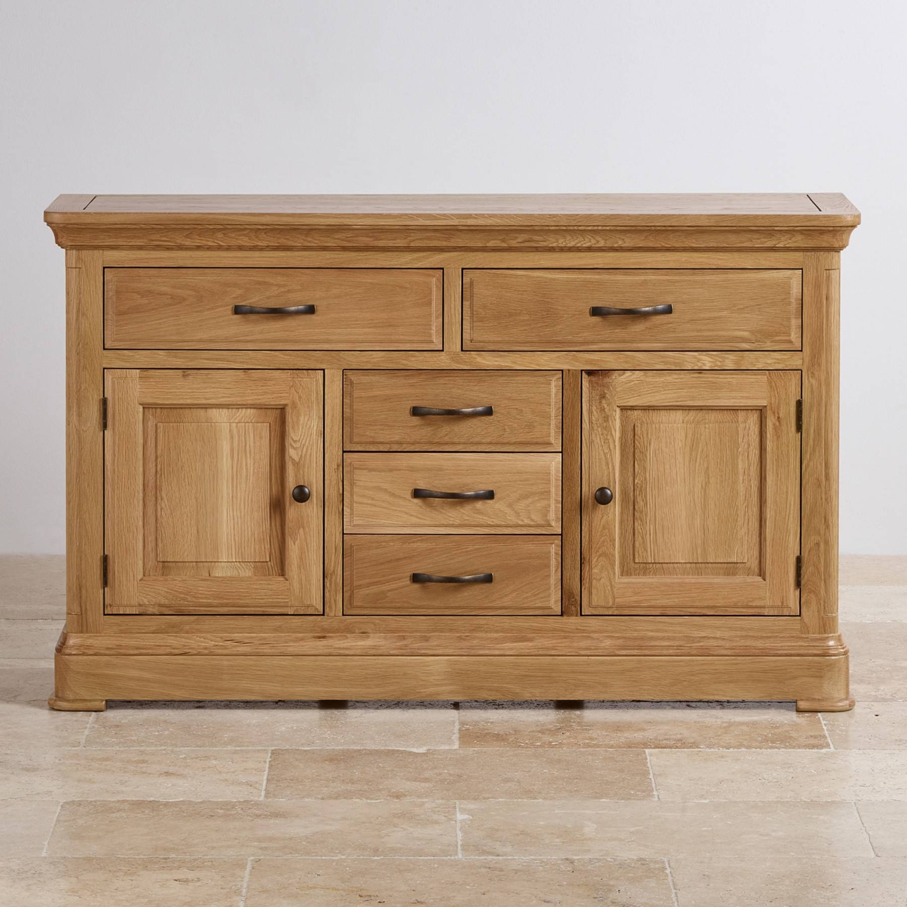Canterbury Natural Solid Oak Large Sideboard | Sideboards | Dining With Regard To Most Up To Date Natural Oak Sideboards (#5 of 15)
