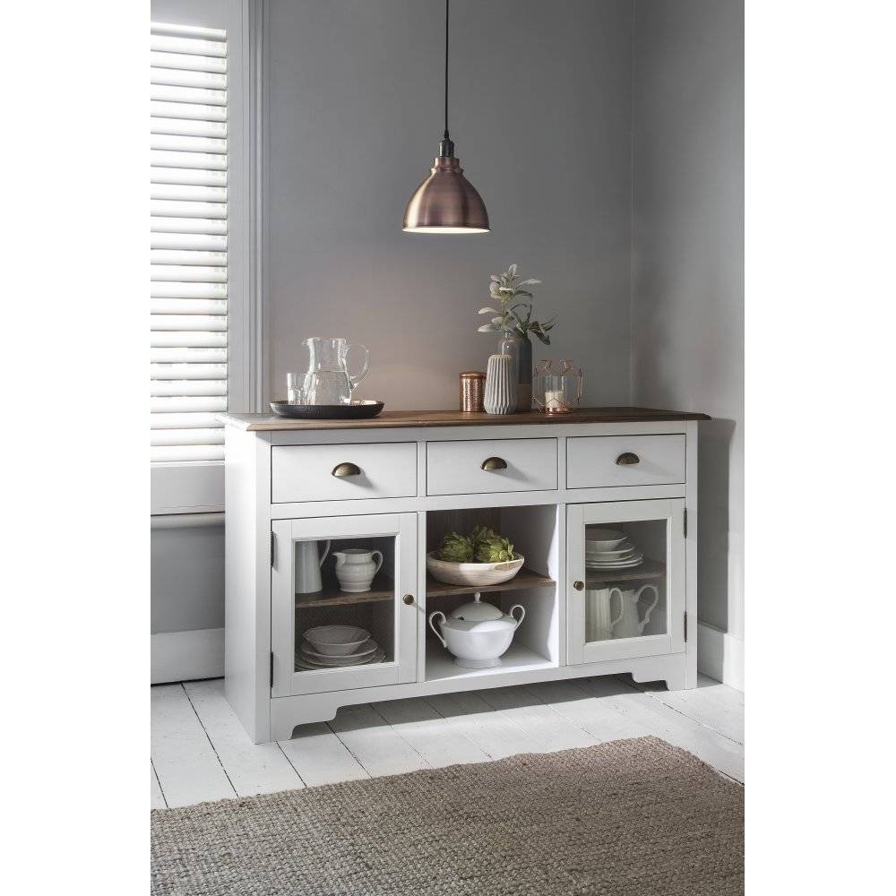 Canterbury Sideboard In White And Dark Pine | Noa & Nani For Latest White Pine Sideboards (#3 of 15)