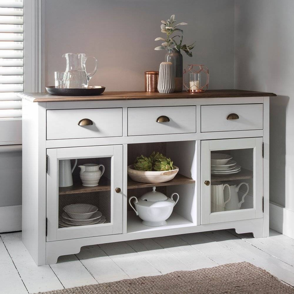 Canterbury Sideboard In White And Dark Pine | Noa & Nani With Regard To Most Popular White Pine Sideboards (#4 of 15)