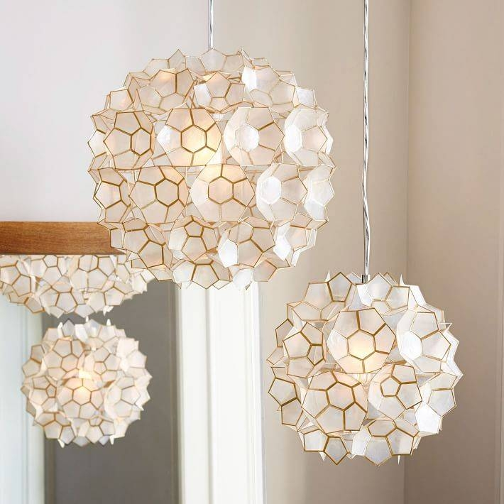Capiz Flower Pendant | West Elm Inside Current Flower Pendant Lights (#4 of 15)