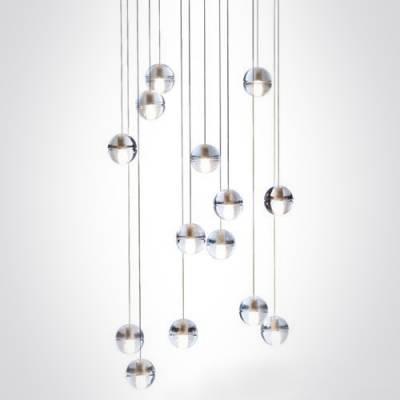 Cascade Glass Ball Pendant Light 14 Light – Beautifulhalo Regarding Most Up To Date Glass Ball Pendant Lights (#2 of 15)