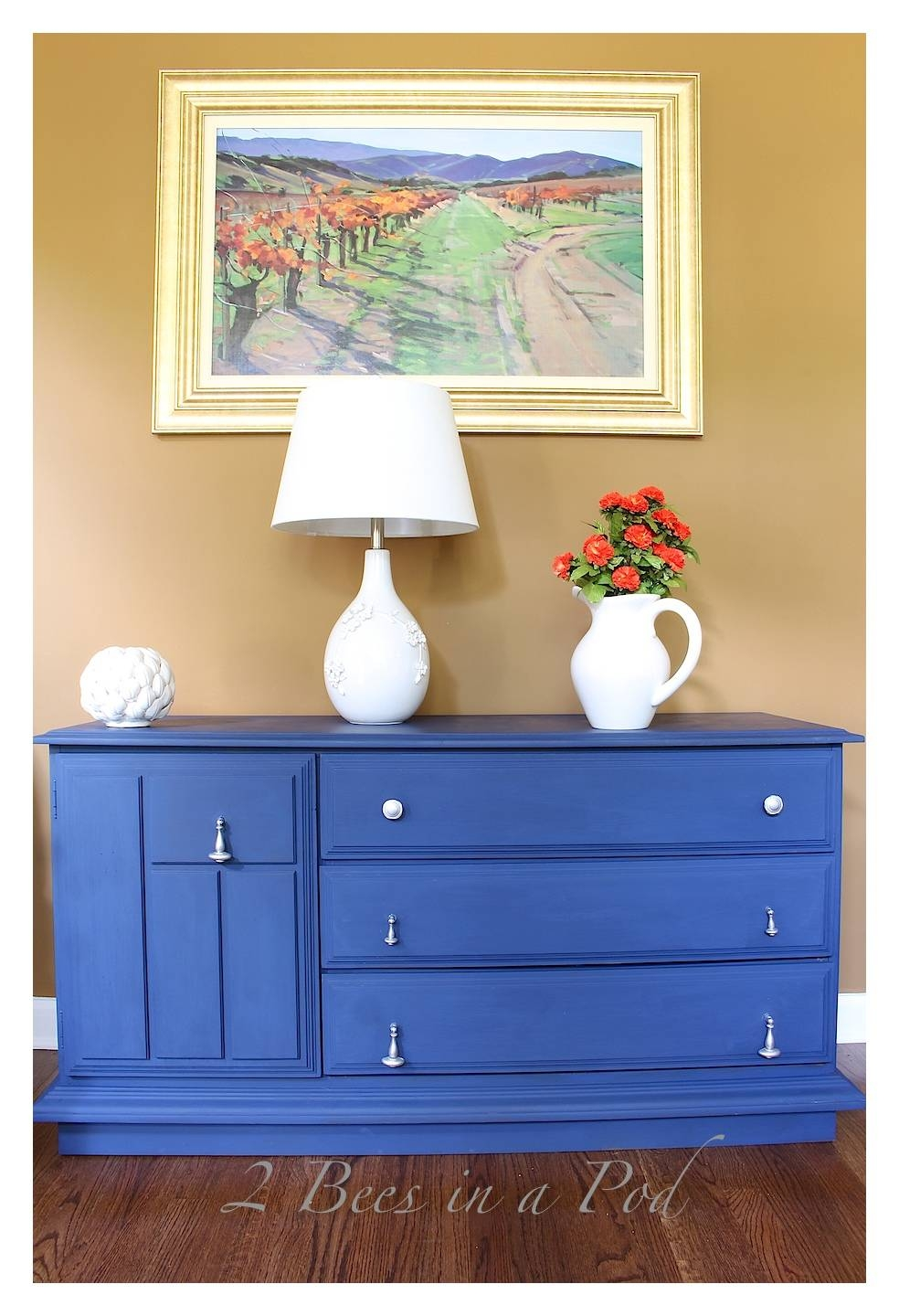 Chalk Painted Buffet Makeover – 2 Bees In A Pod Regarding Current Annie Sloan Painted Sideboards (#3 of 15)
