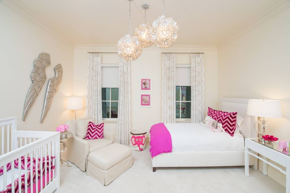 Chandeliers For Girls Nursery Contemporary With Shared Bedroom Intended For Recent Pendant Lights For Nursery (#7 of 15)