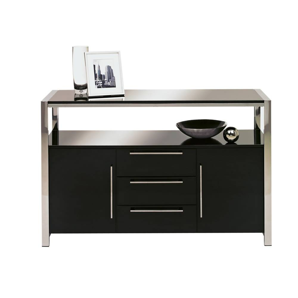 Charisma Sideboard Black Gloss At Wilko Pertaining To Newest Gloss Sideboards (#3 of 15)