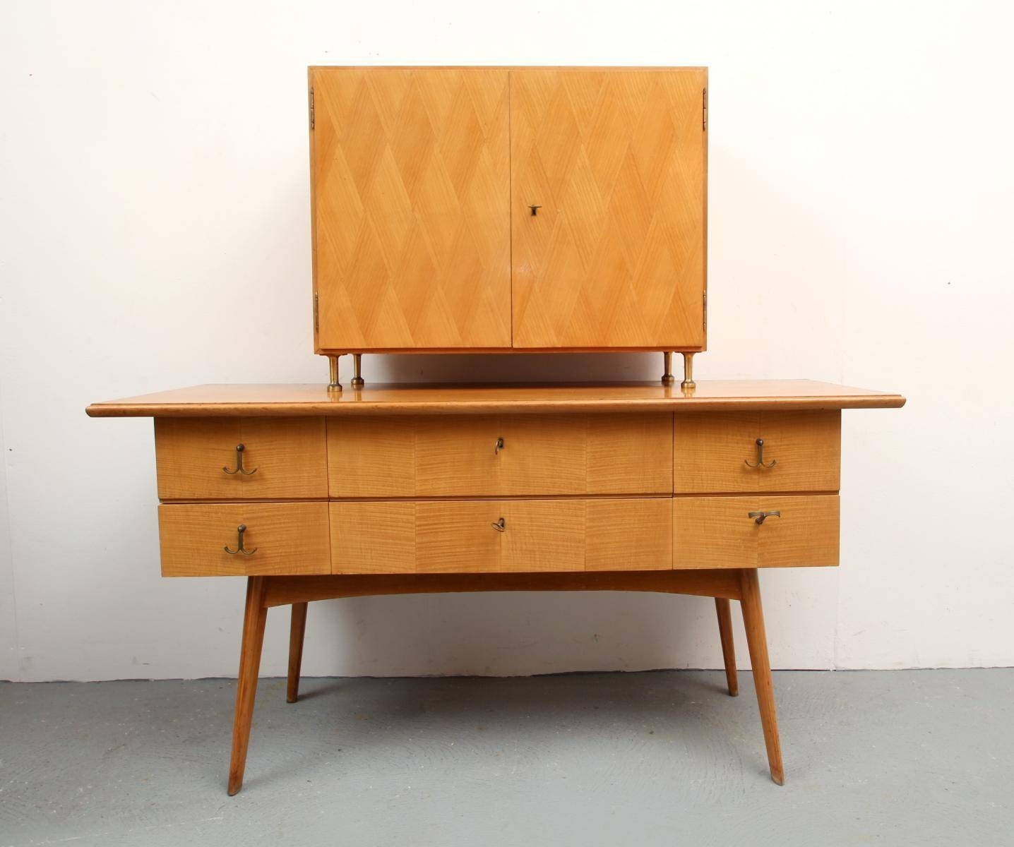 Cherry Wood Sideboard And Bar Cabinet, 1950s For Sale At Pamono Intended For Most Popular Sideboard Bar Cabinet (View 5 of 15)