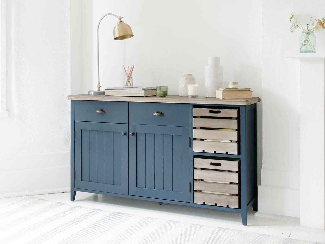 Cidre Sideboard In Inky Blue | Painted Sideboard | Loaf Throughout Best And Newest Painted Sideboards (#3 of 15)