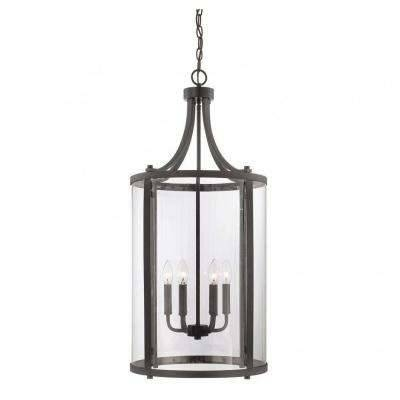 Classic – Clear – Cage – Pendant Lights – Lighting – The Home Depot Inside Recent Bronze Cage Pendant Lights (#8 of 15)