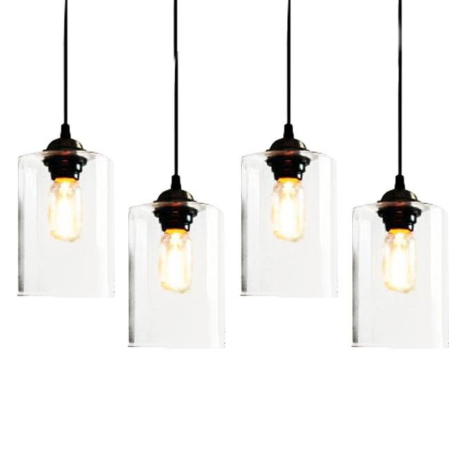 Clear Glass Jar Pendant Lighting 7395 : Free Ship! Browse Project Intended For Most Current Glass Pendant Lighting Fixtures (#4 of 15)