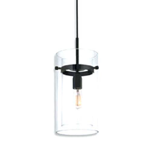 Clear Glass Mini Pendant Light Street One Light Satin Black With In Most Recent Black Mini Pendant Lights (#7 of 15)