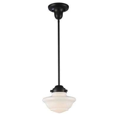 Clear – Schoolhouse – Pendant Lights – Lighting – The Home Depot Throughout Most Current Schoolhouse Pendant Lighting (#2 of 15)