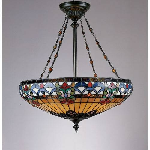 Collection In Stained Glass Island Lighting Fixtures Tiffany With Most Recently Released Tiffany Style Pendant Light Fixtures (View 5 of 15)