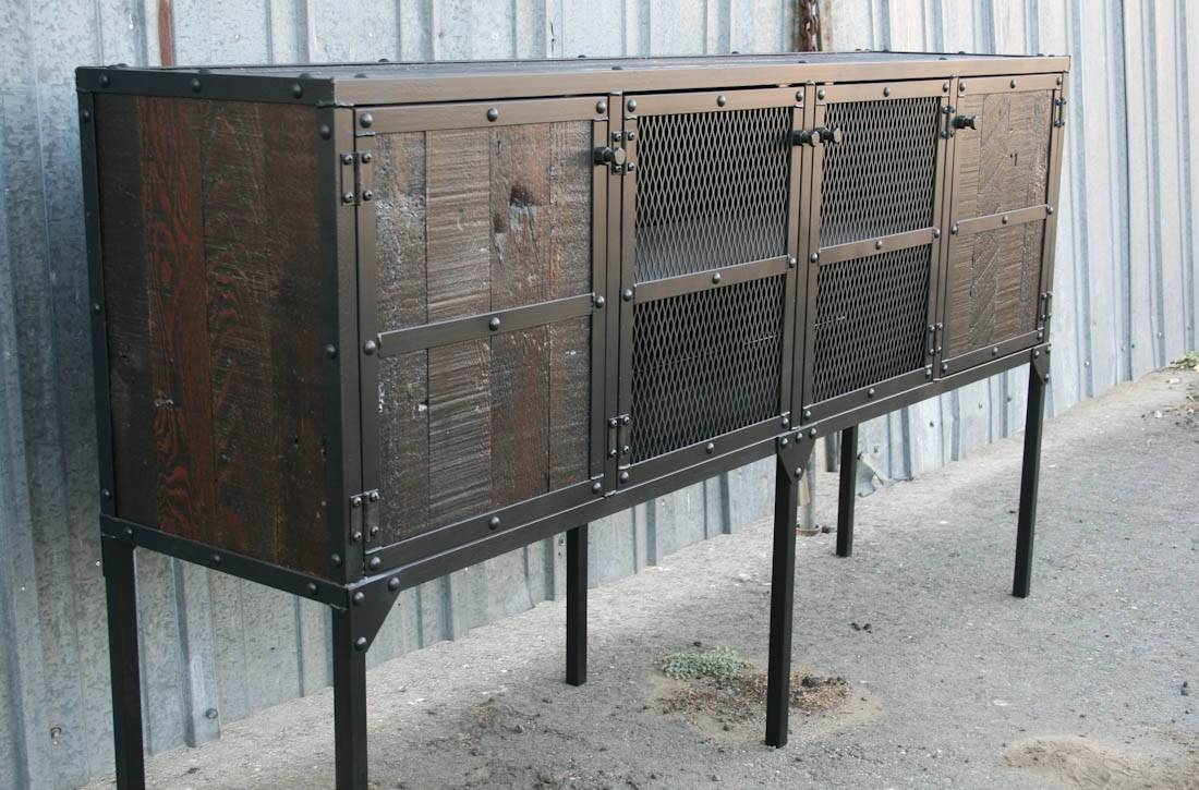 Combine 9 | Industrial Furniture – Rustic Buffet – Hutch Made Of In Most Popular Unique Sideboards And Buffets (View 10 of 15)