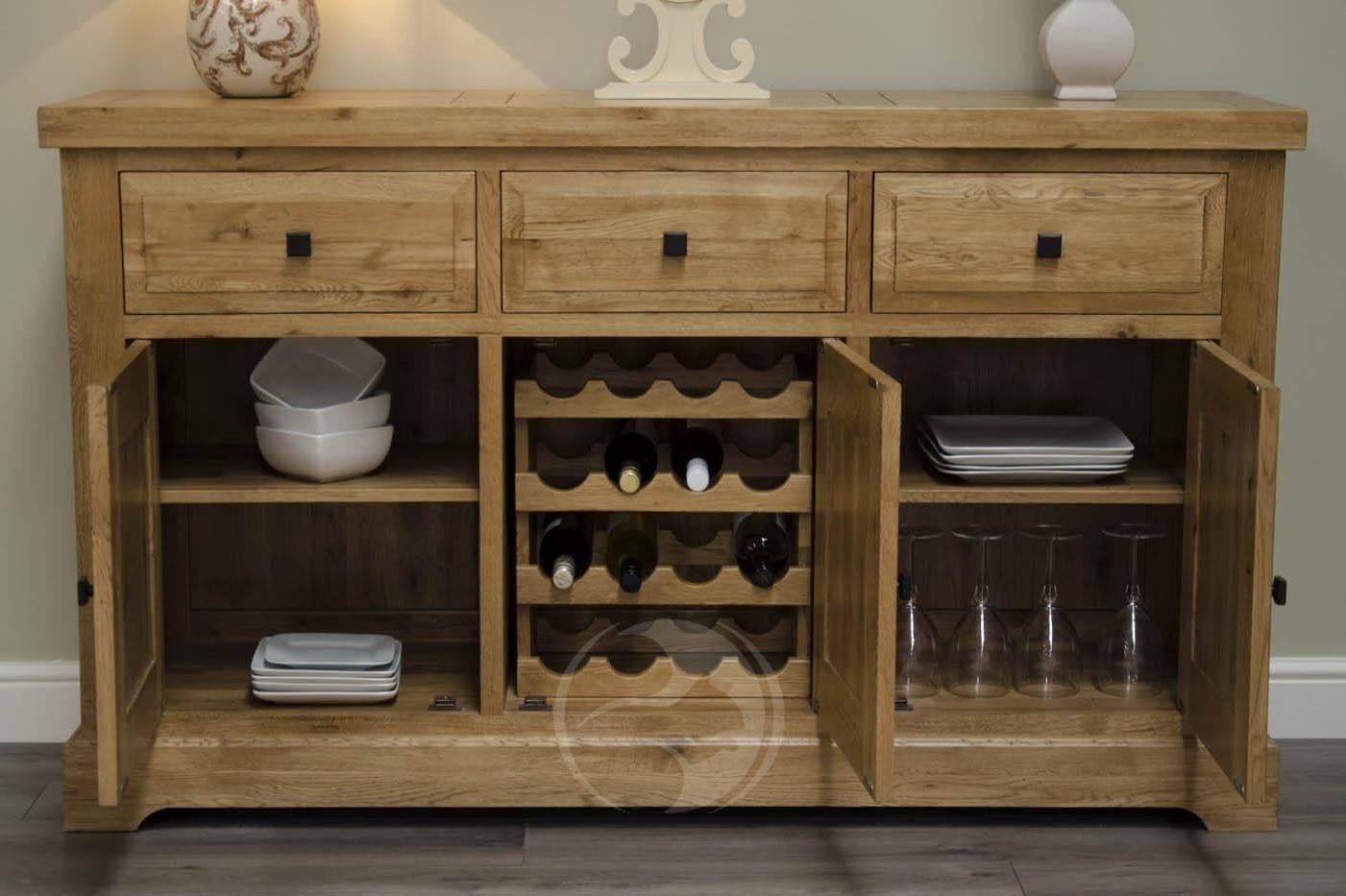 Coniston Rustic Solid Oak Large Sideboard | Oak Furniture Uk Inside Most Current Rustic Oak Large Sideboards (#2 of 15)