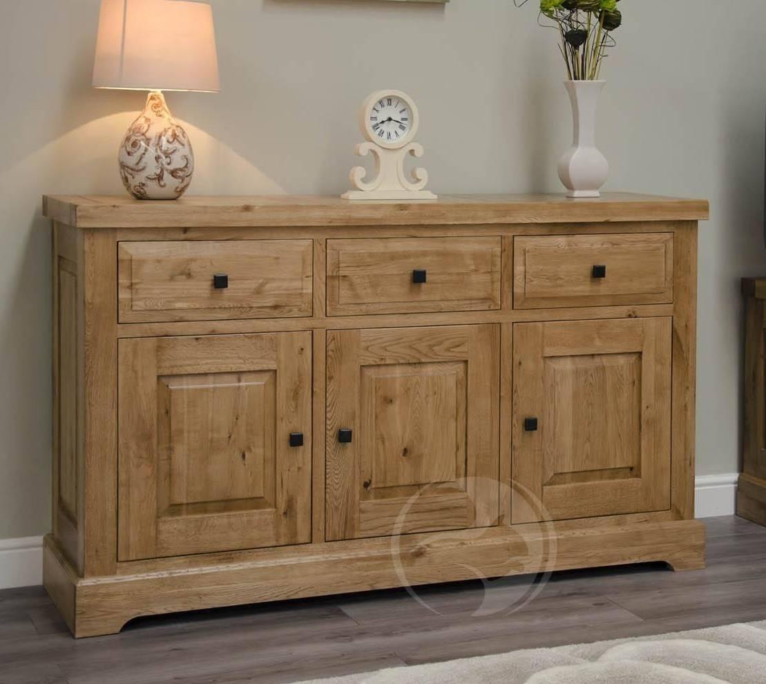 Coniston Rustic Solid Oak Large Sideboard | Oak Furniture Uk Pertaining To Current Rustic Oak Large Sideboards (#3 of 15)
