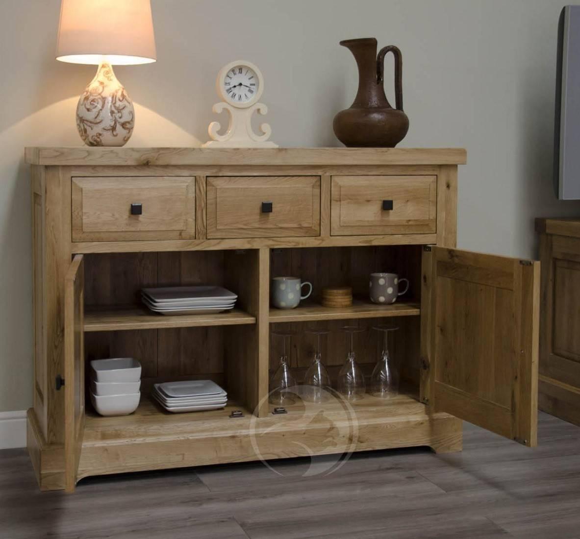 Coniston Rustic Solid Oak Medium Sideboard   Oak Furniture Uk Intended For Current Rustic Sideboard Furniture (View 15 of 15)