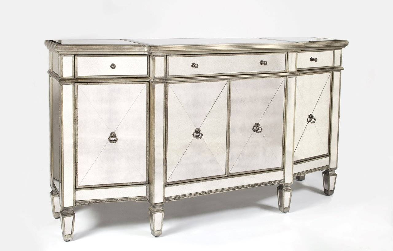Console Tables : Buffet Furniture White Dining Server Kitchen For Latest Glass Buffet Table Sideboards (#4 of 15)