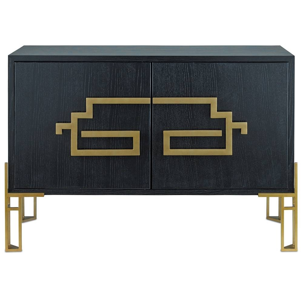 Contempo Black And Gold Sideboard – Cosmo Chic Regarding Most Recent Gold Sideboards (#3 of 15)