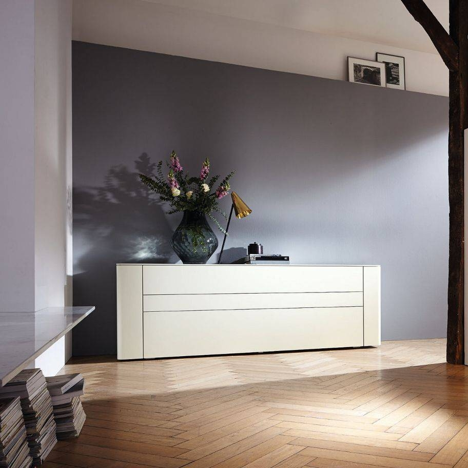 Contemporary Sideboard / Lacquered Wood / White – Gentis – Hülsta Throughout 2017 Hulsta Sideboards (#2 of 15)