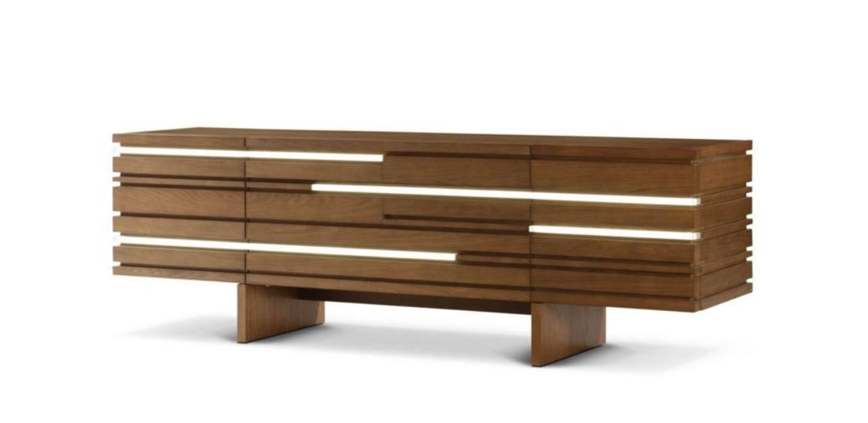 Contemporary Sideboard / Oak – Layersluigi Gorgoni – Roche Bobois Throughout Best And Newest Roche Bobois Sideboards (#1 of 15)