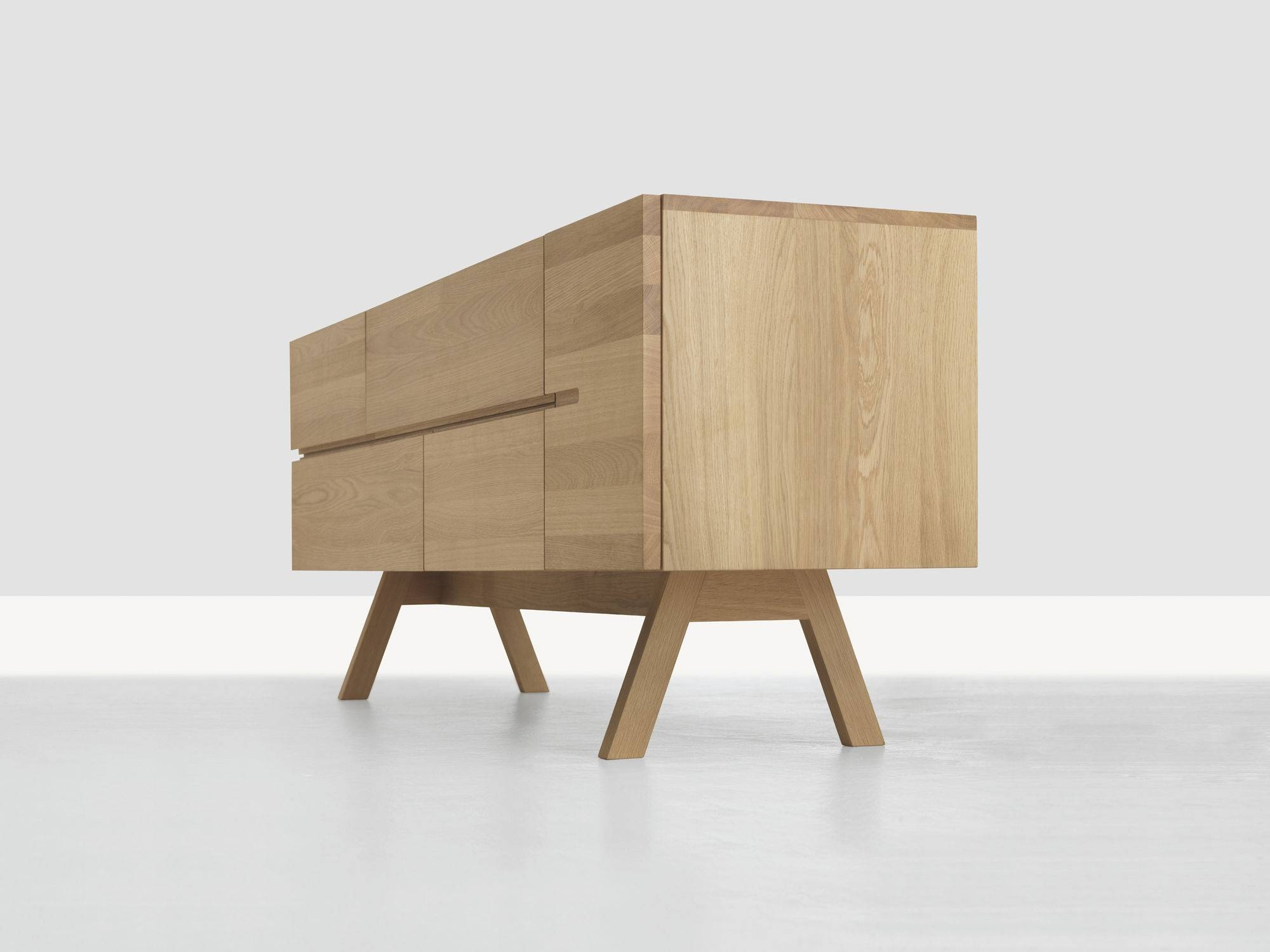 Contemporary Sideboard / Solid Wood – Low Atelierformstelle Intended For Most Up To Date Solid Wood Sideboards (#5 of 15)