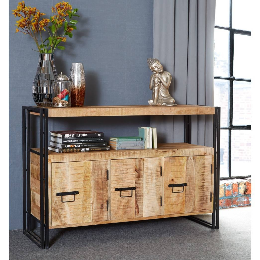 Cosmo Industrial Sideboard With 3 Doors With Current Industrial Sideboards (View 6 of 15)