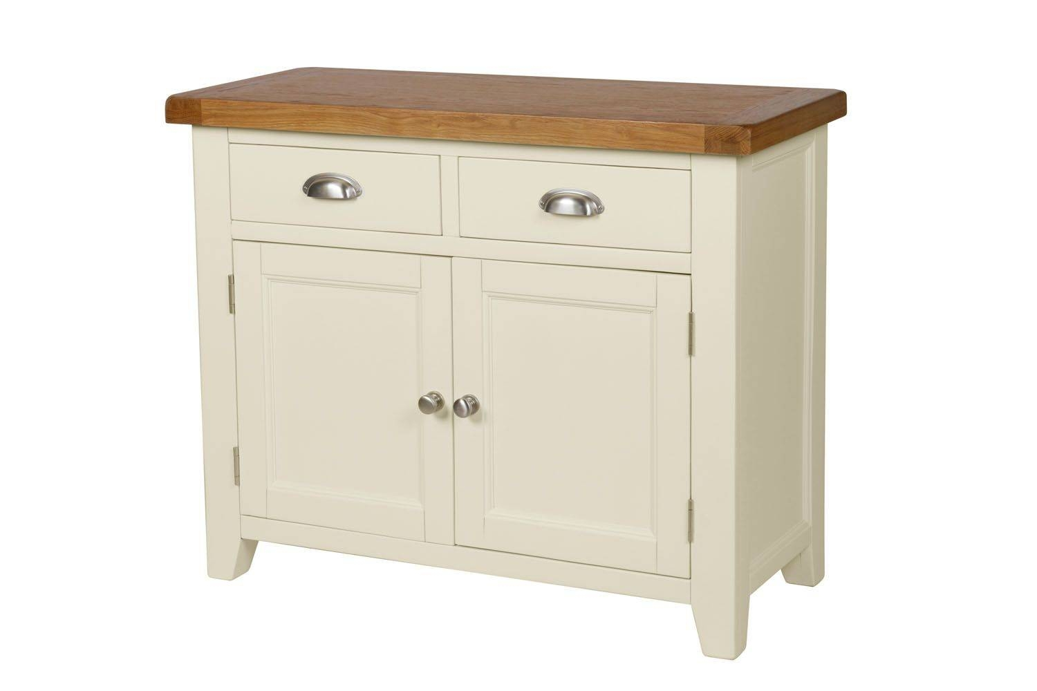 Country Cottage 100Cm Cream Painted Oak Sideboard Regarding Best And Newest Painted Sideboards (#5 of 15)