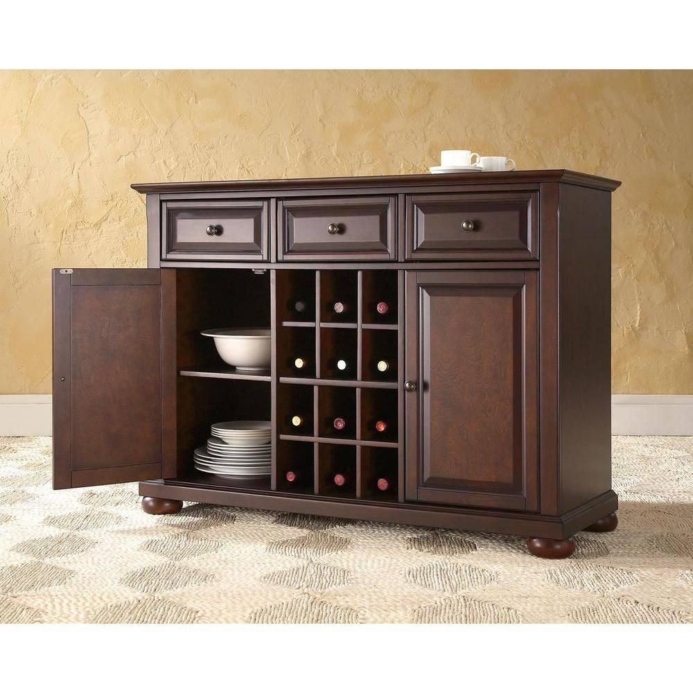 Crosley Alexandria Black Buffet Kf42001Abk – The Home Depot Intended For Newest Black Sideboards And Buffets (#2 of 15)