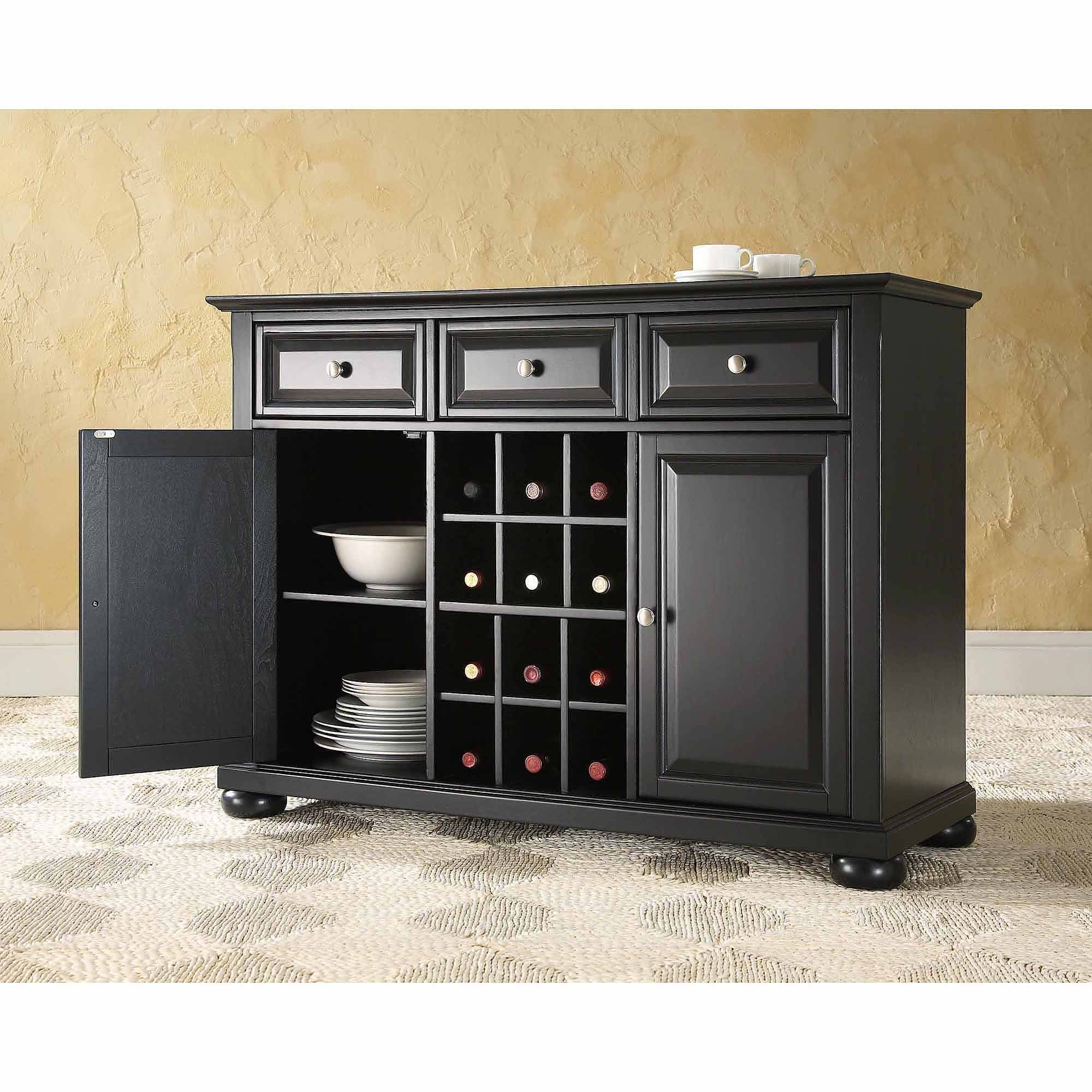 Crosley Furniture Alexandra Buffet Server And Sideboard Cabinet Intended For Most Popular Server Sideboard Furniture (#5 of 15)