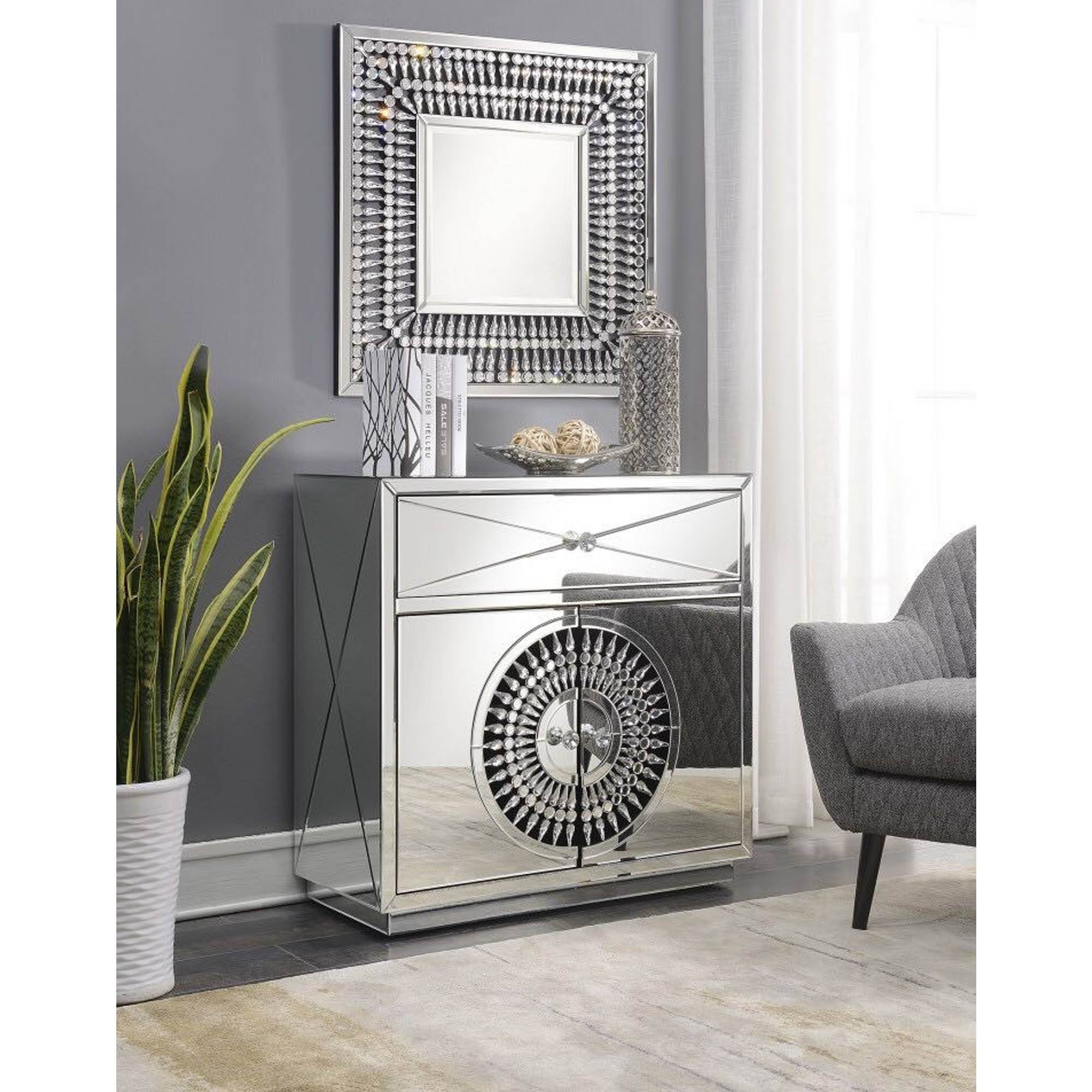 Crystal Mirrored Sideboard | Sideboard | Homesdirect365 Inside Latest Mirror Sideboards (View 13 of 15)