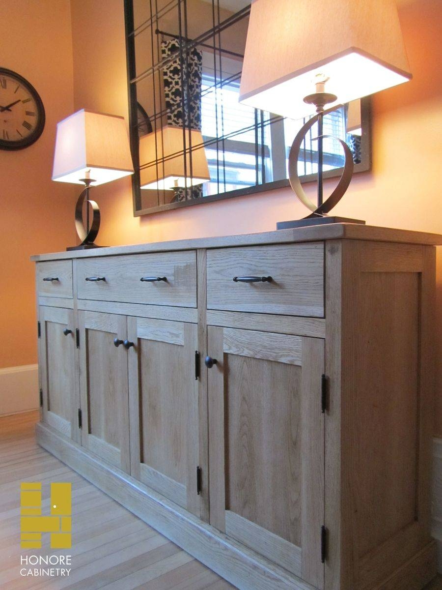 Custom Made Furnishings : Distressed Oak Sideboardhonore In Most Up To Date Distressed Buffet Sideboards (#5 of 15)