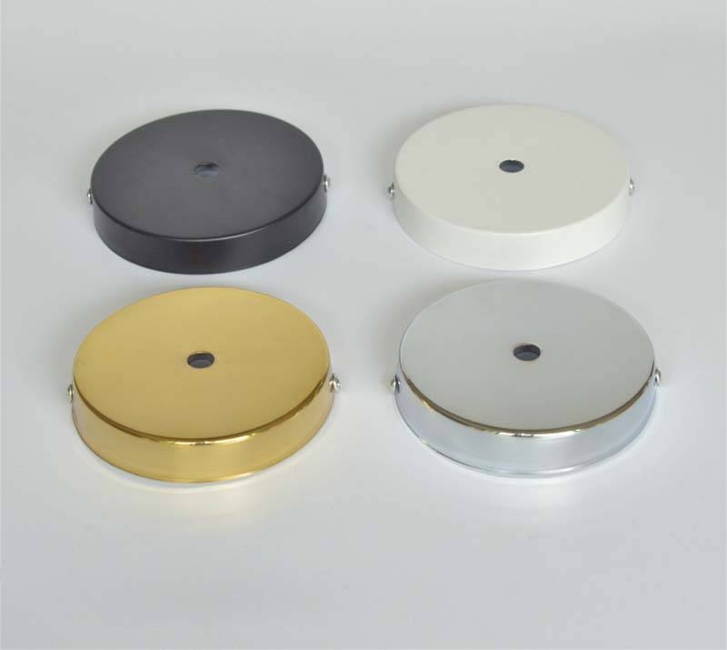 D100Mm White/black/chrome/gold Ceiling Plate Ceiling Canopy For With Most Recently Released Pendant Lights For Ceiling Plate (View 10 of 15)