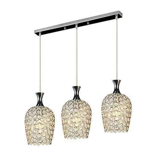 Dinggu™ Modern 3 Lights Crystal Pendant Lighting For Kitchen Regarding Most Current 3 Light Pendants For Island Kitchen Lighting (#10 of 15)