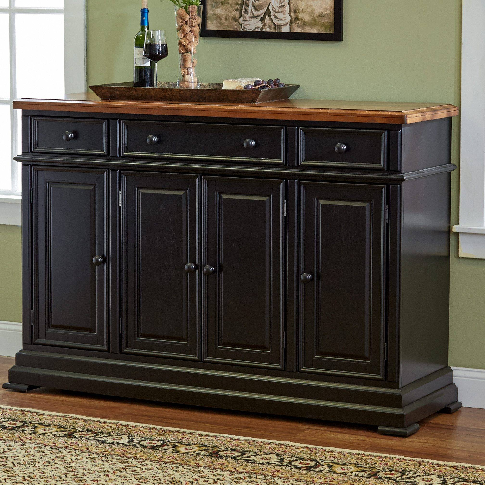 Popular Photo of Black Dining Room Sideboards