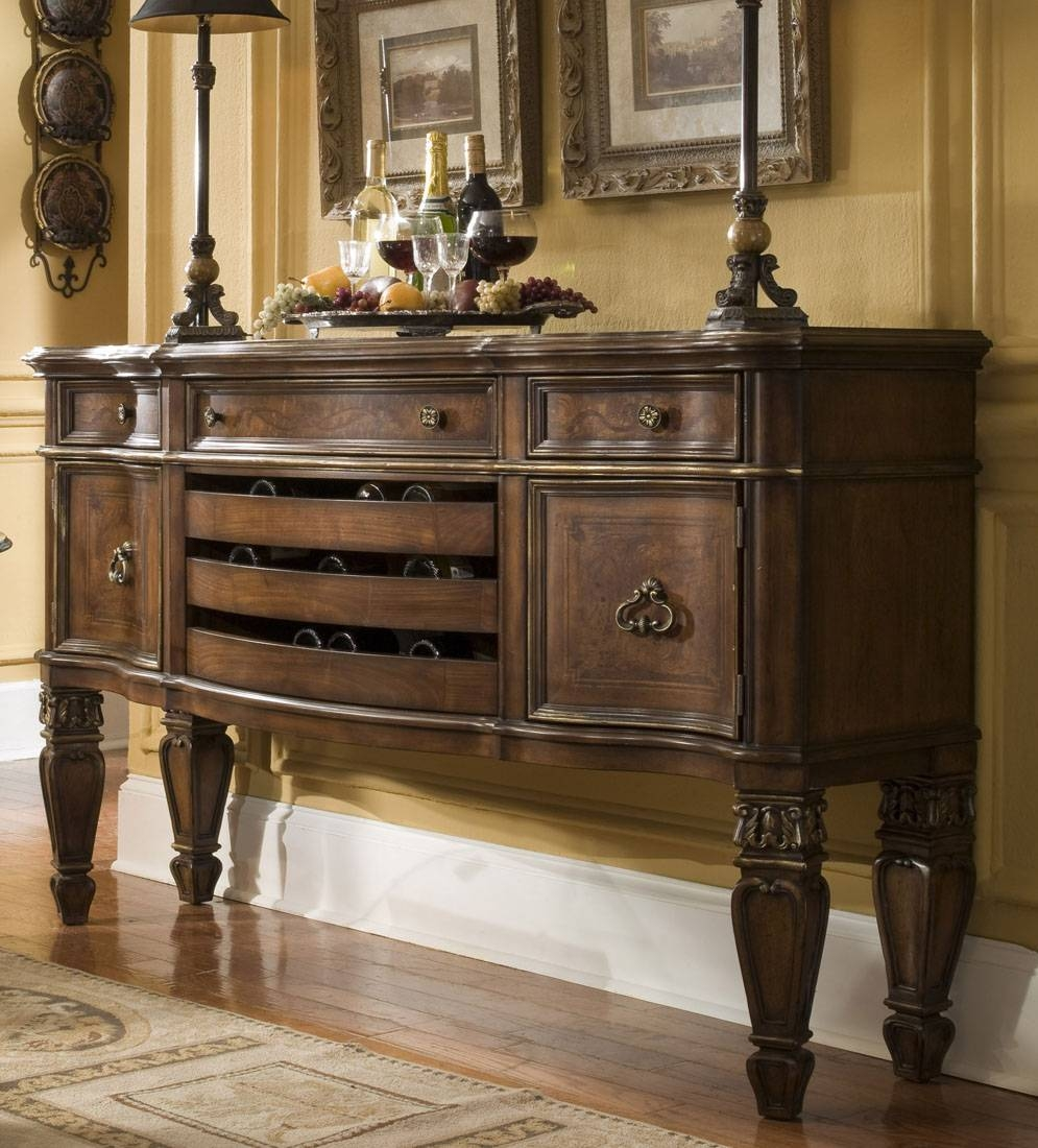 Dining Room Buffet Cabinet Sideboards Buffets Storage Servers 17 Within Most Recent Sideboards Cabinets (#2 of 15)