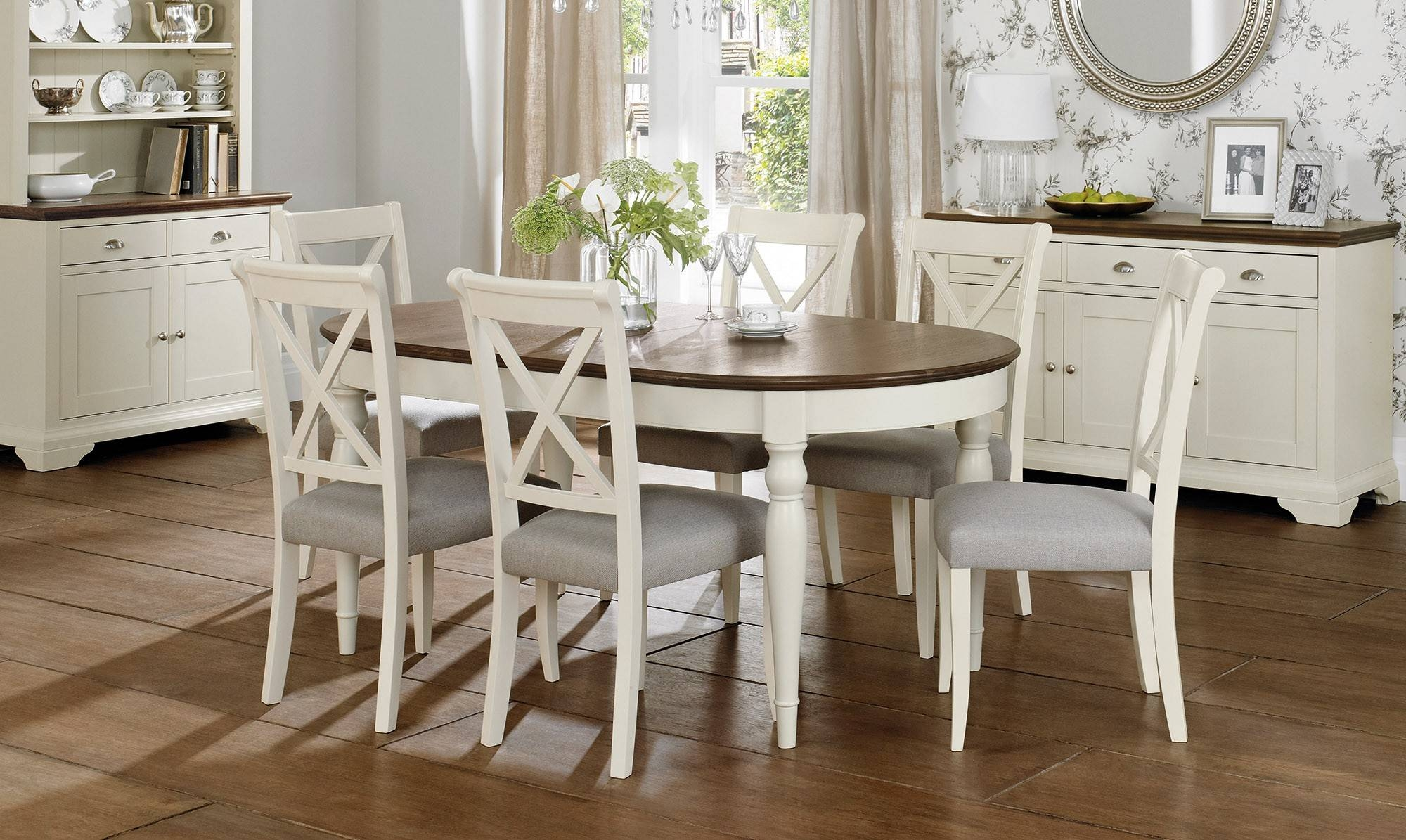 Dining Room: Interesting Extendable Dining Table For Your Dining Within Current Dining Room Table Chairs And Sideboards (#8 of 15)