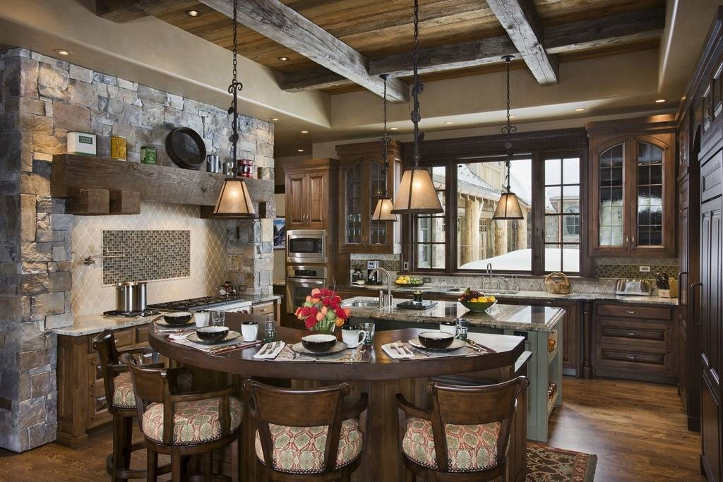 Dining Room Rustic Pendant Lights : Rustic Pendant Lights Design Throughout 2017 Rustic Pendant Lighting For Kitchen (View 13 of 15)