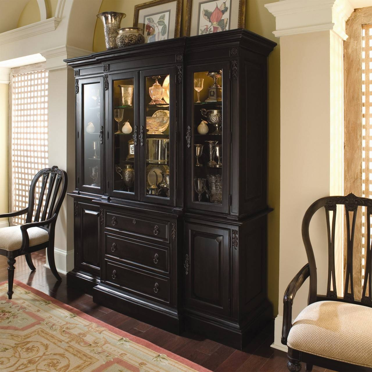 Dinning China Cabinet Dining Room Buffet Small Sideboard Buffet Within 2017 Black Dining Room Sideboards (#12 of 15)