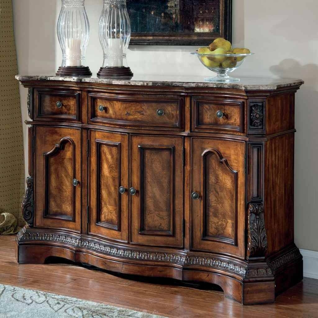 Dinning Pub Table Sideboard Buffet Sideboards Coffee Serving Image Pertaining To Most Popular Glass Buffet Table Sideboards (#5 of 15)