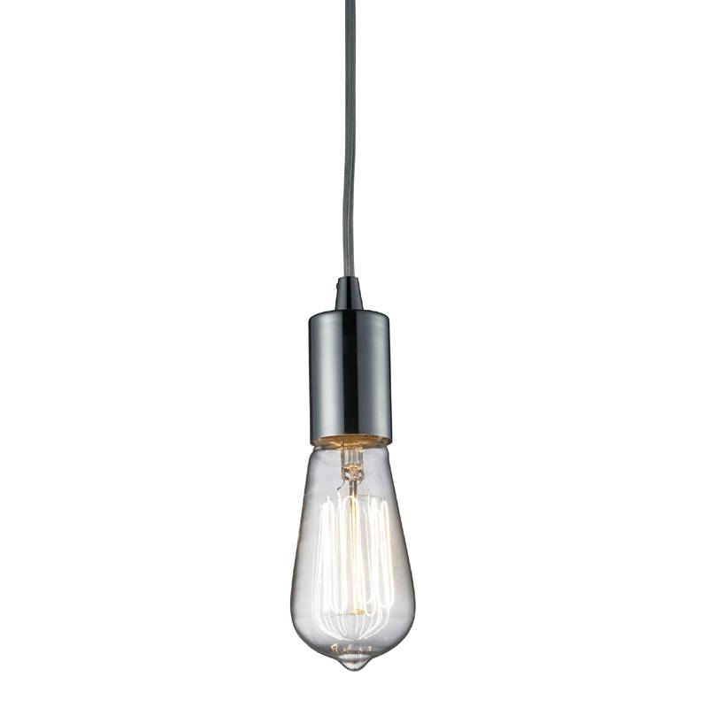 District17: Edison Bulb Pendant In Polished Chrome: Pendant Lights Inside 2017 Edison Bulb Pendant Lights (View 11 of 15)