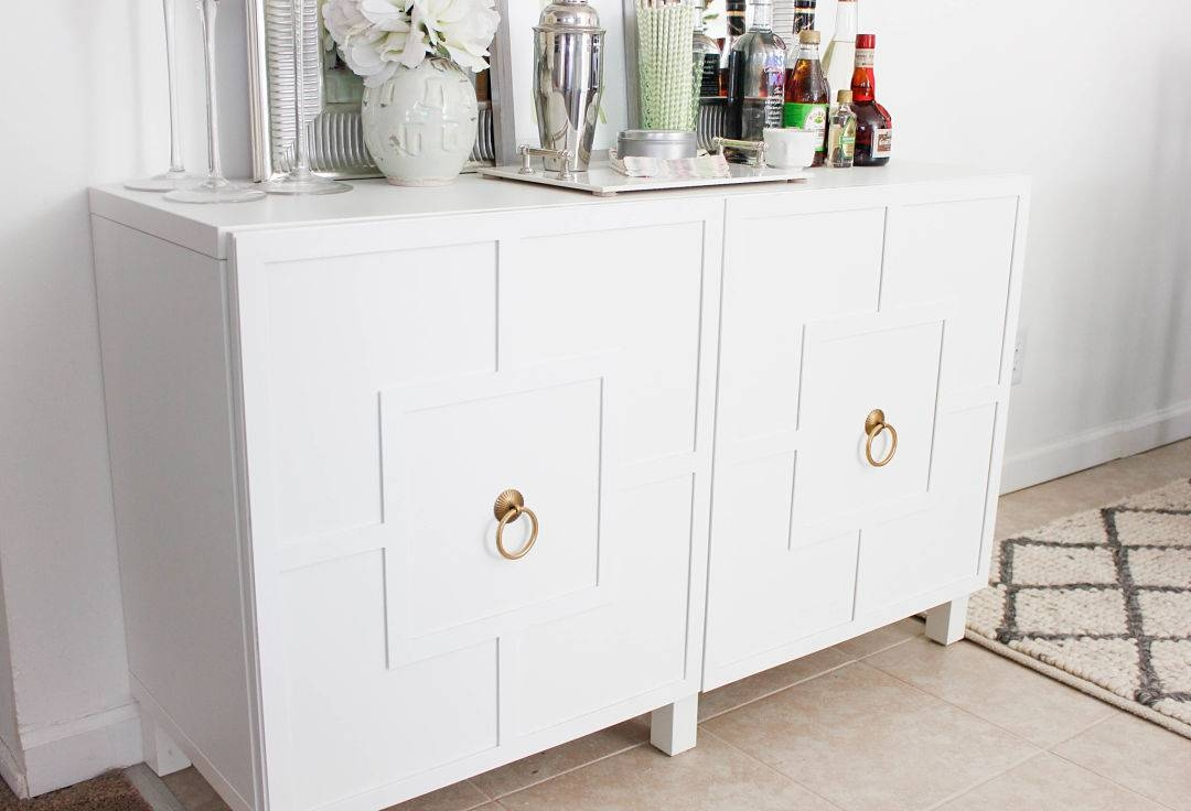 Diy Ikea Hack | Besta Cabinet Two Ways – Glam Latte Throughout Best And Newest Ikea Besta Sideboards (#7 of 15)