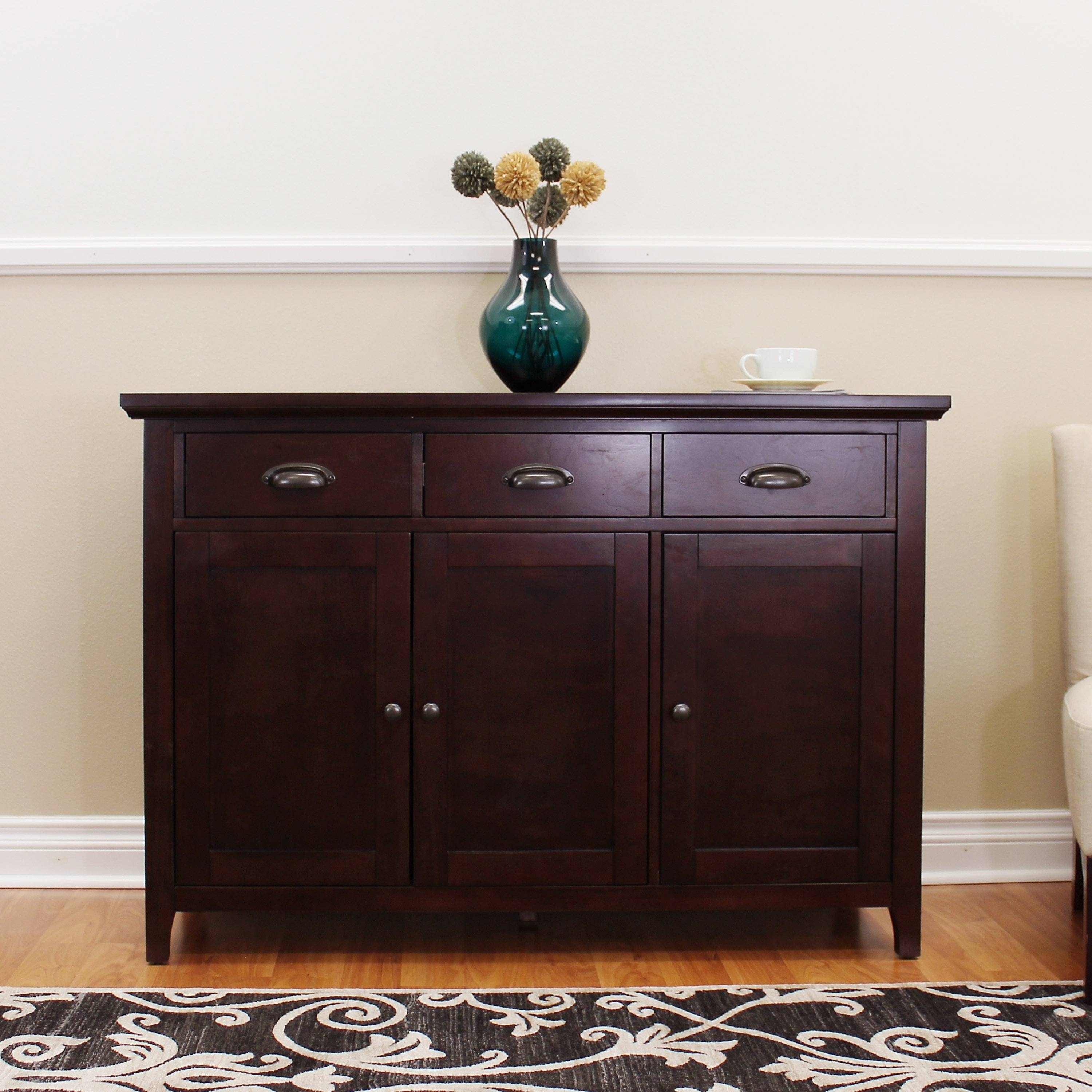 Donnieann Lindendale Espresso 47 Inch Sideboard / Buffet Table Intended For Most Up To Date Overstock Sideboards (#6 of 15)