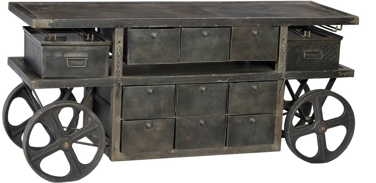 Dov Industrial Sideboard | Artiques Imports Intended For Most Recently Released Industrial Sideboards (View 7 of 15)