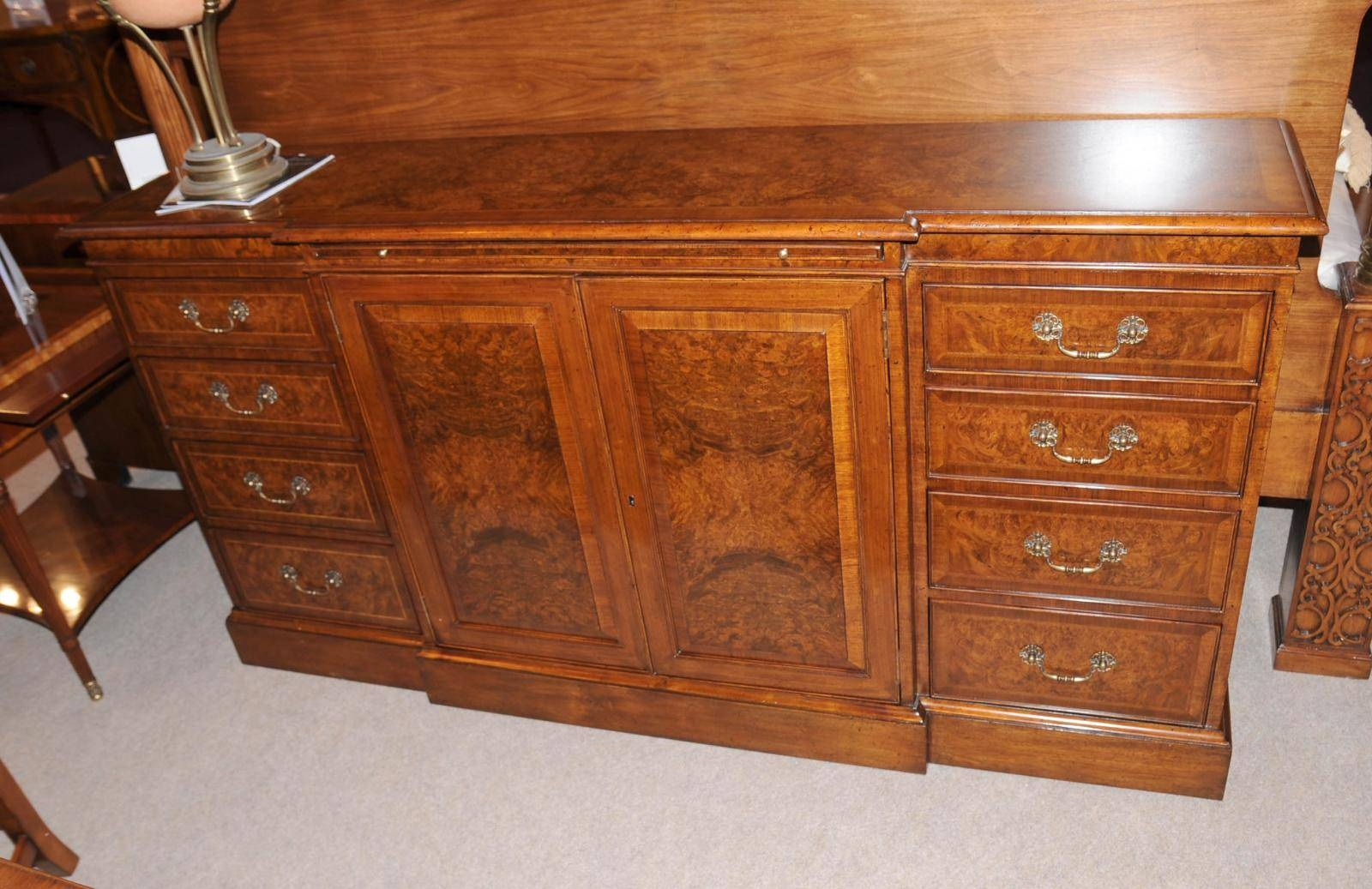 Edwardian Walnut Sideboard Buffet Server Dining Furniture | Ebay For Most Up To Date Buffet Server Sideboards (#4 of 15)