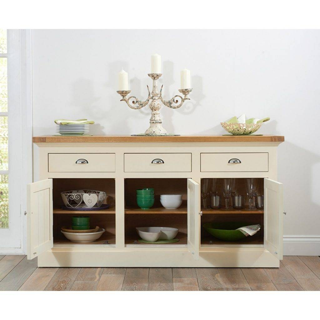 Elegant Cream And Oak Sideboard – Buildsimplehome Regarding Most Current Cream Oak Sideboards (View 12 of 15)