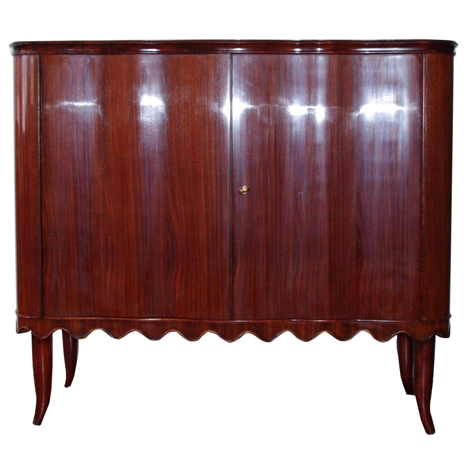 Elegant Italian Bar Cabinetpaolo Buffa For Sale At 1Stdibs With Regard To Best And Newest Sideboard Bar Cabinet (#6 of 15)