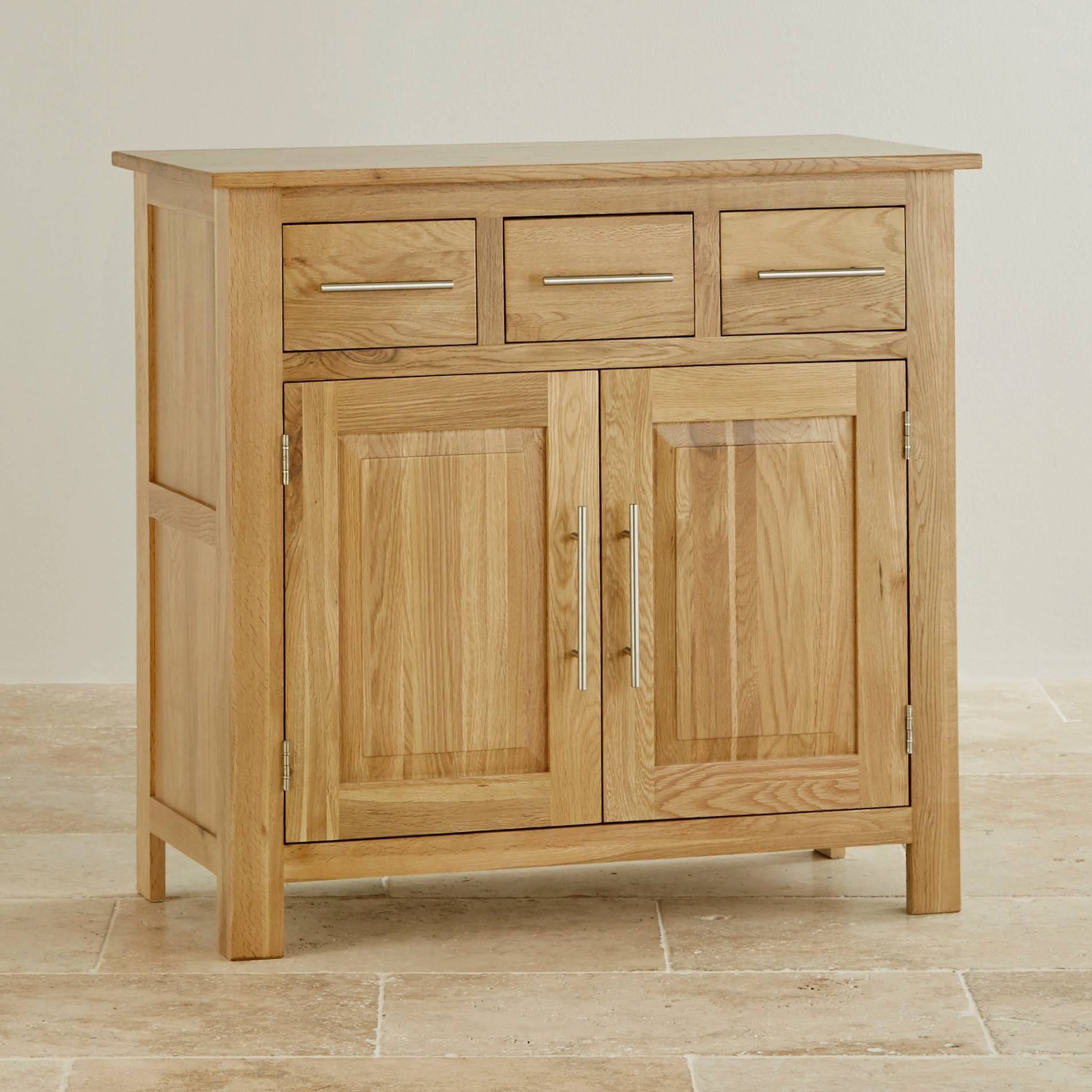 Elegant Small Solid Oak Sideboard – Buildsimplehome With Regard To Recent Oak Furniture Land Sideboards (#7 of 15)