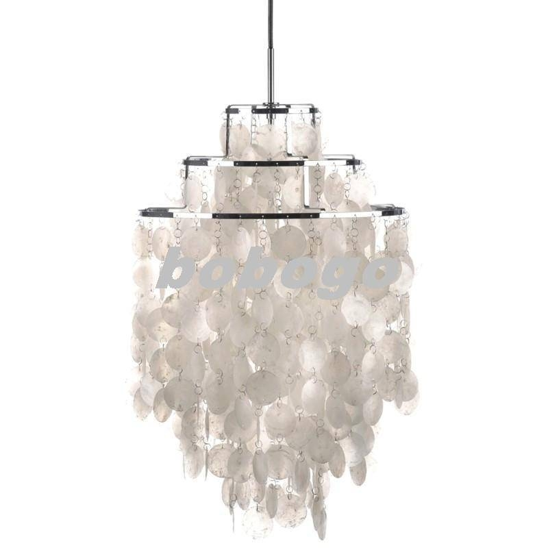 Elsa Capiz Shell 20 Pendant Light Beach Style Intended For In 2018 Shell Pendant Lights (#5 of 15)