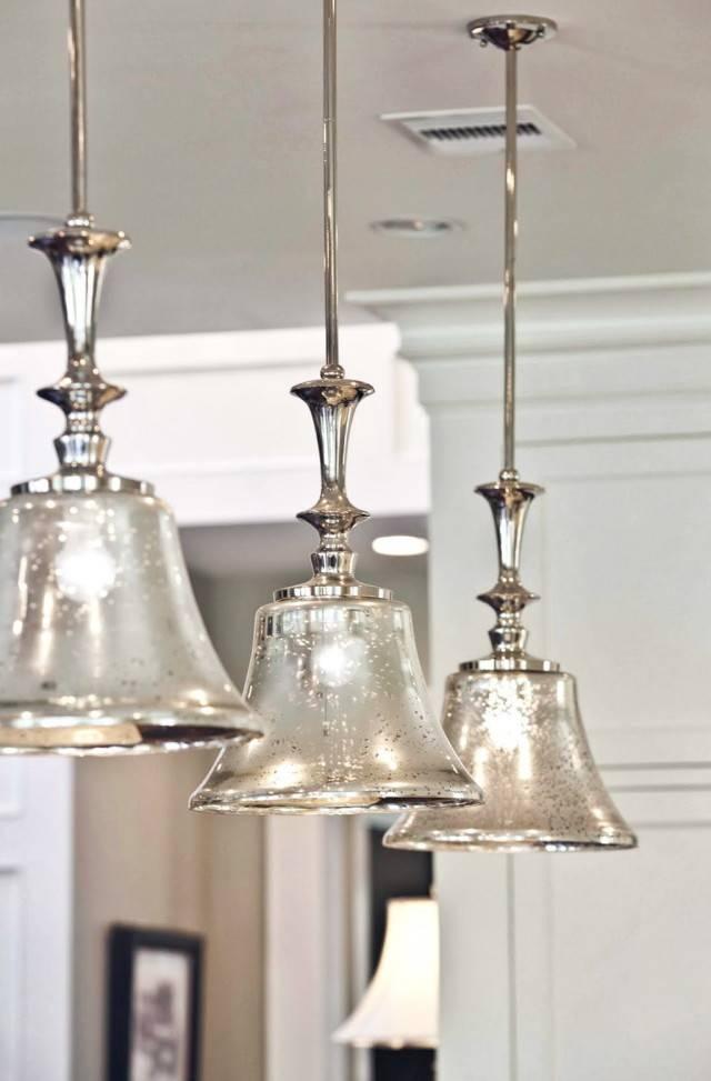 Popular Photo of Mercury Glass Pendant Light Fixtures
