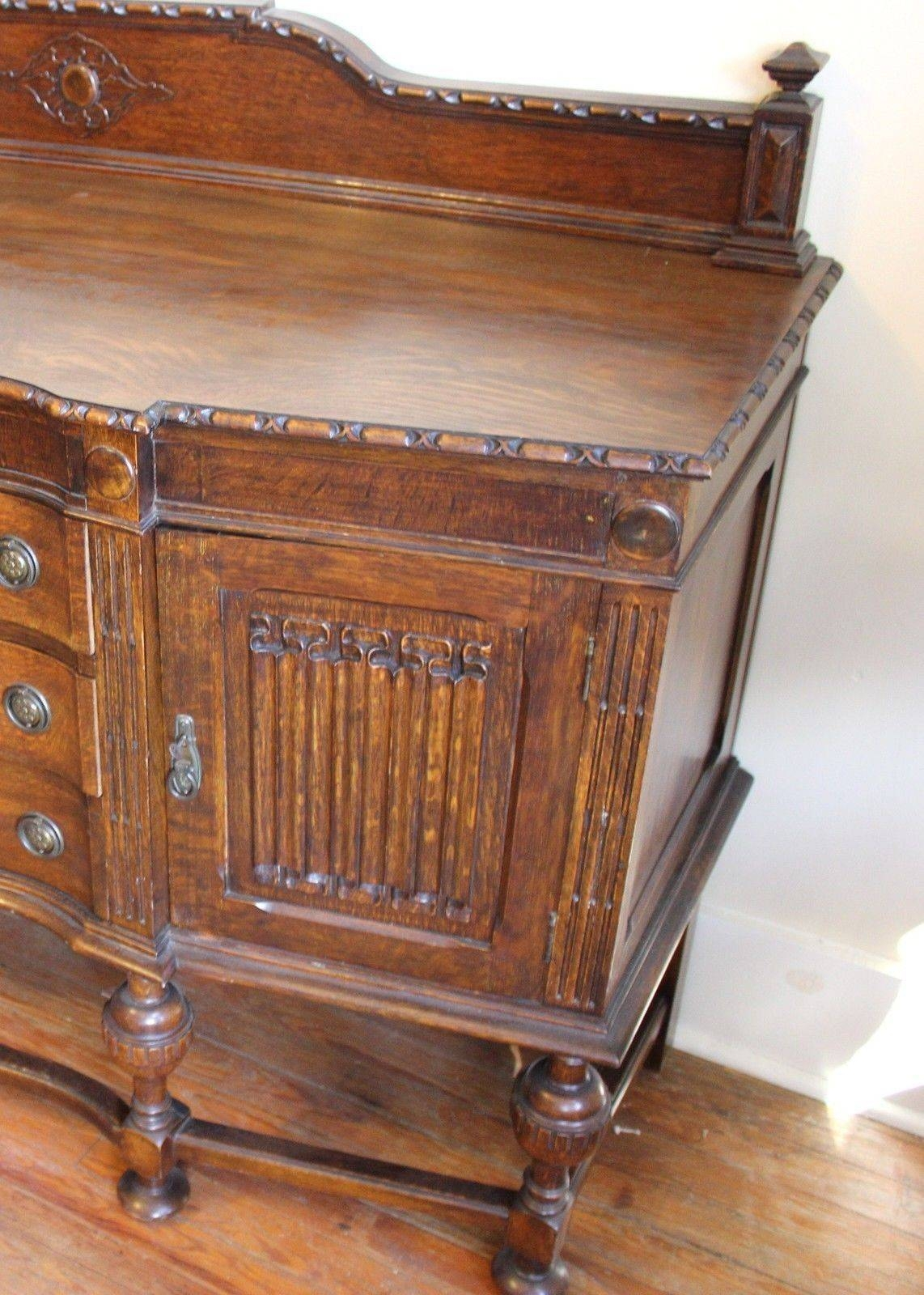 English Antique Jacobean Sideboard / Buffet And 50 Similar Items Pertaining To 2018 Jacobean Sideboards Buffets (View 6 of 15)