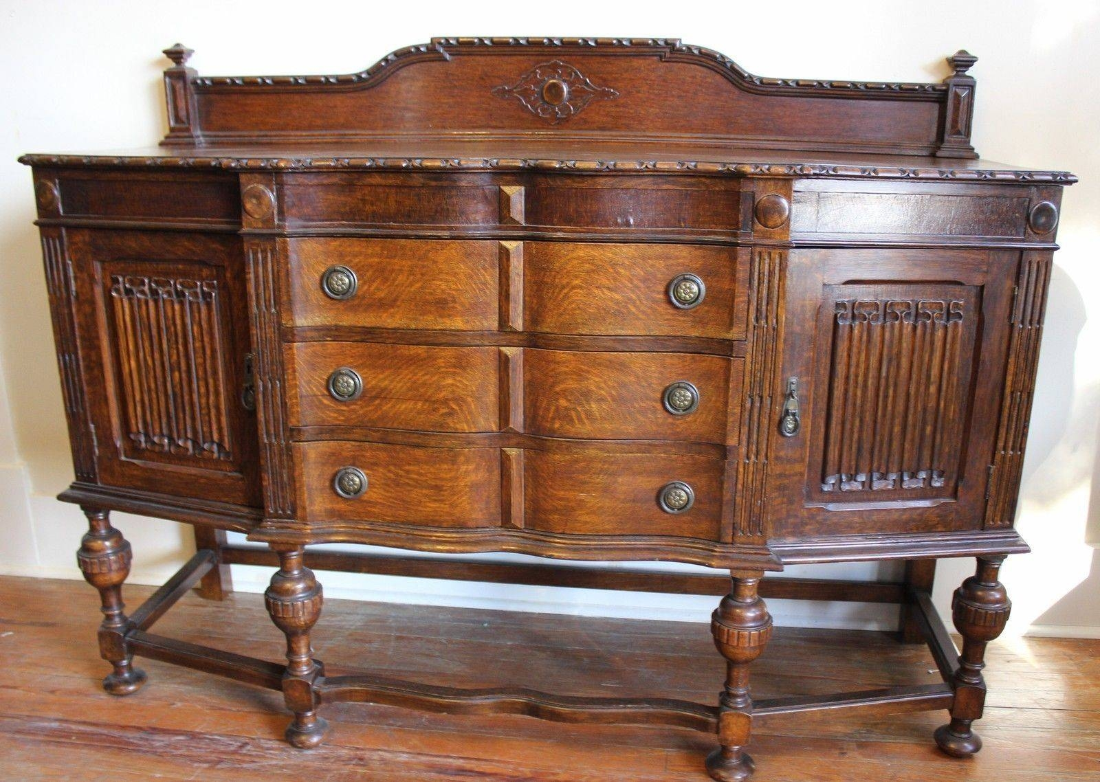 English Antique Jacobean Sideboard / Buffet And 50 Similar Items With Newest Jacobean Sideboards Buffets (View 7 of 15)